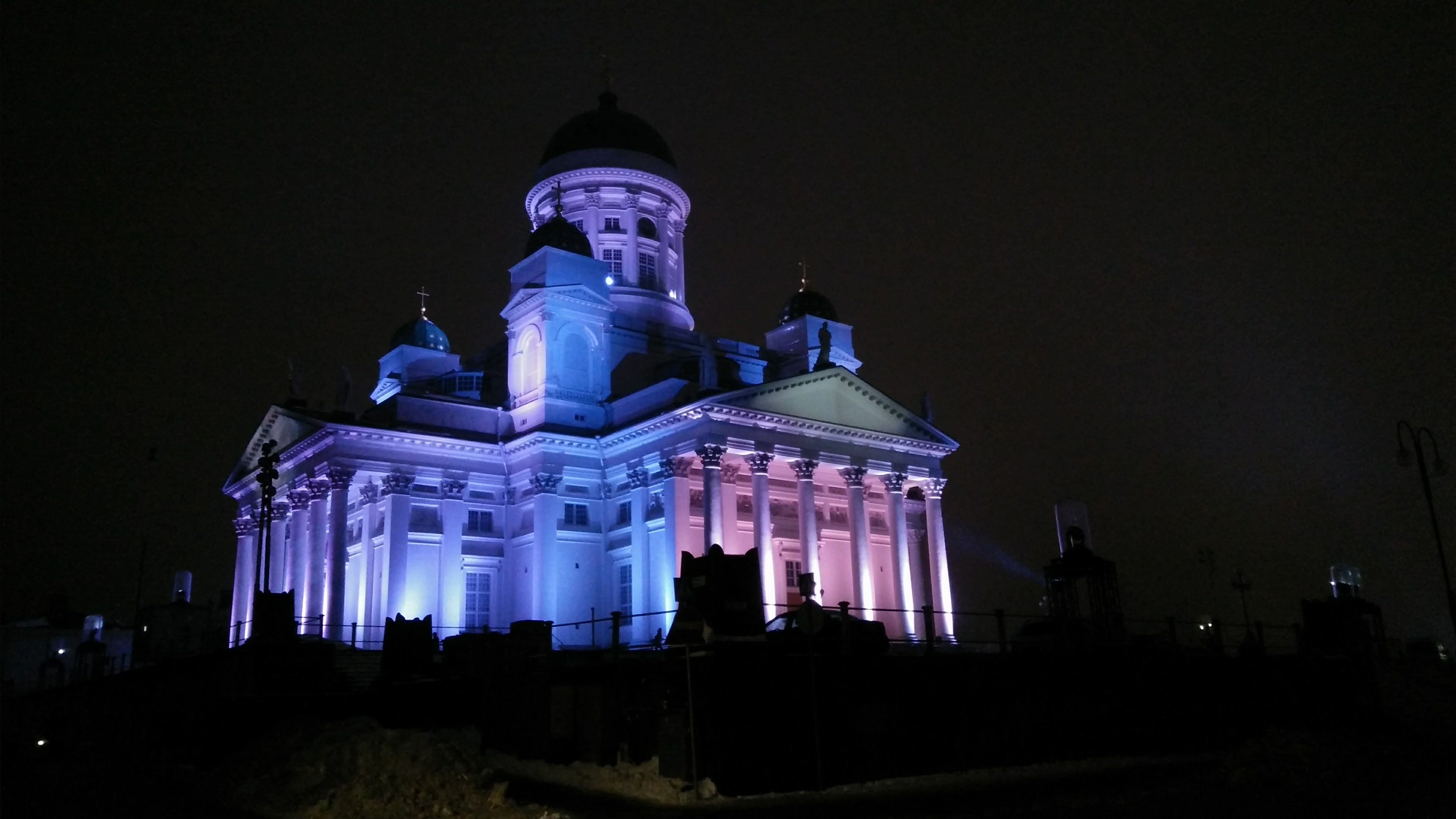 """Tarja Ervasti: Domus 360° – Four Homes"" at Helsinki Cathedral (different position)"